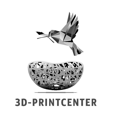 3D Printing: Modern and Futuristic Logo for a Shop