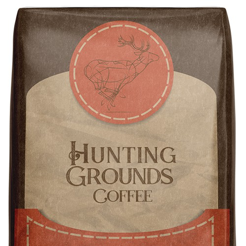 Coffee Package Label for a New and Exciting Brand