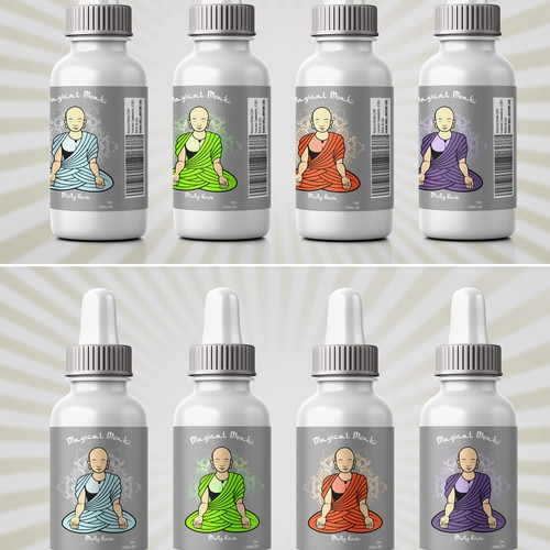 Magical Monk E-juice bottle design
