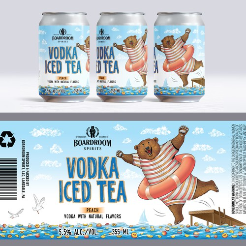 Canned cocktail label, Peach