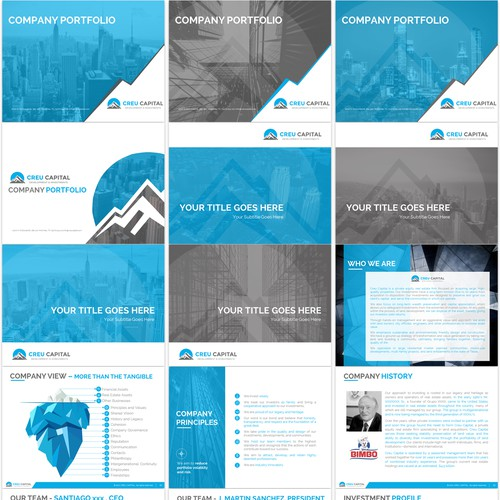creu Capital Powerpoint Template