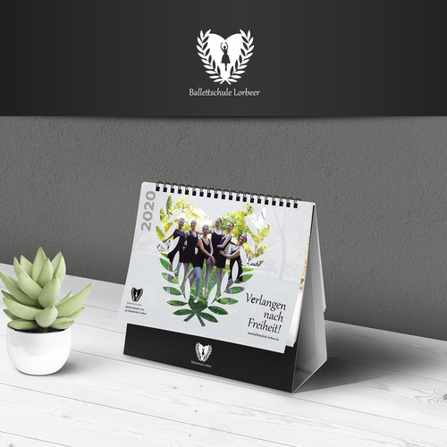 2020 Elegant Calendar Design for Ballet School