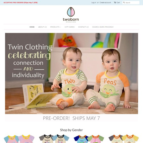 Two Born Shopify Design and development