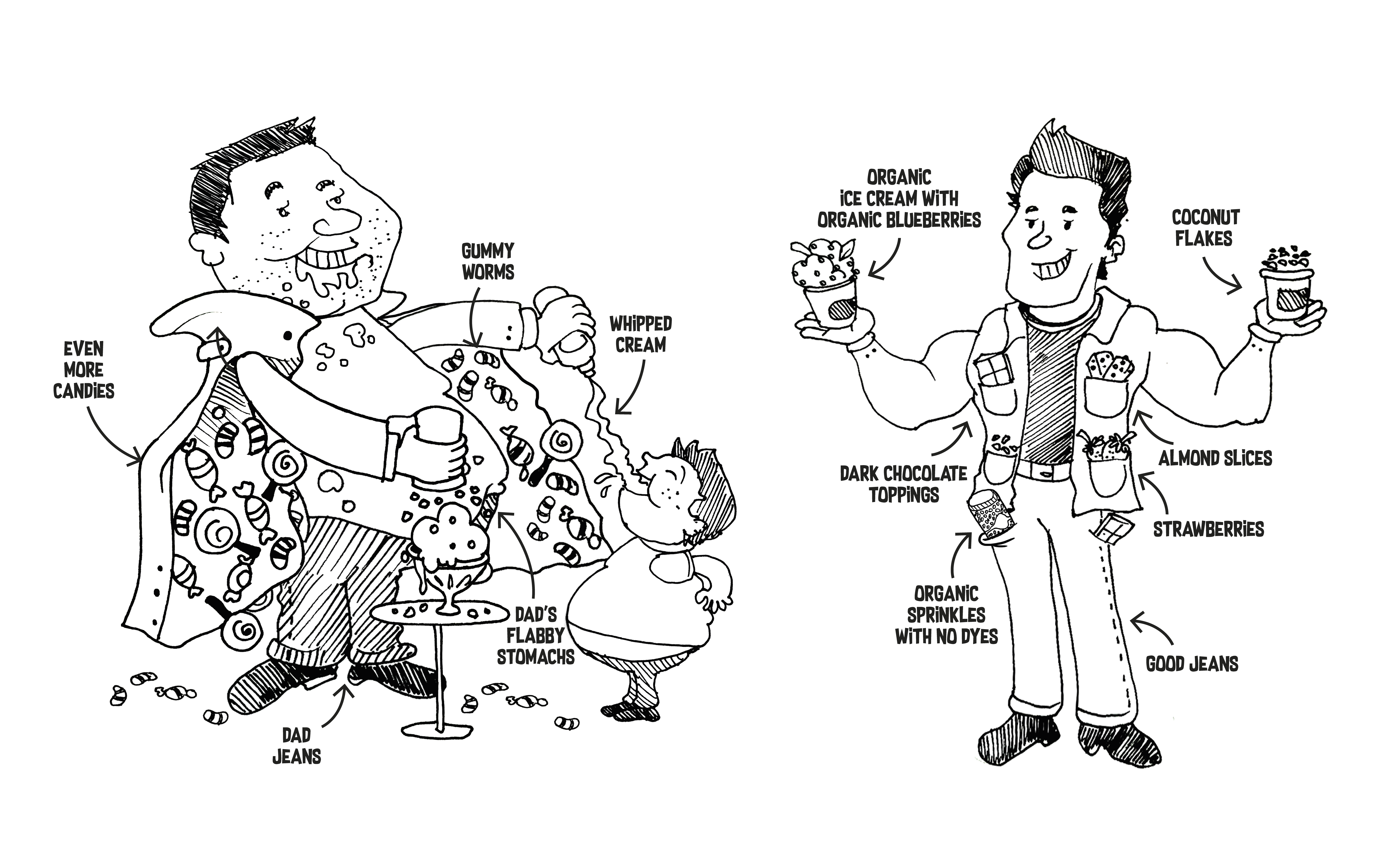 doodles for funny book on sugar and parenting