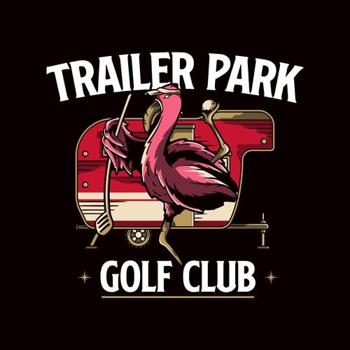Trailer Park Golf Club Logo VIntage Style