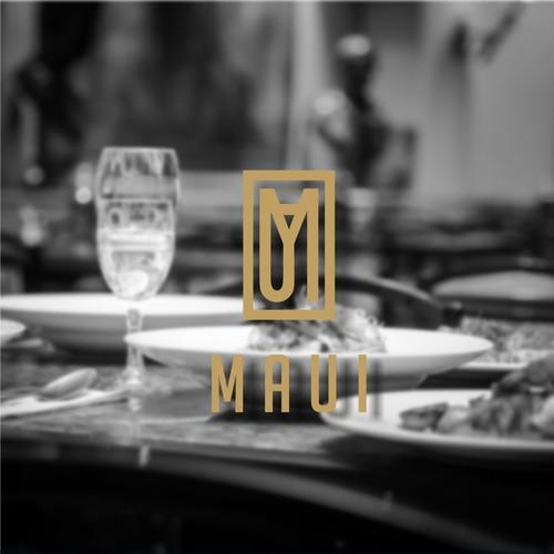 Clean Elegant Modern Logo Concept For MAUI