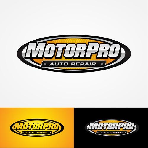 Metallic badge for Auto Repair company
