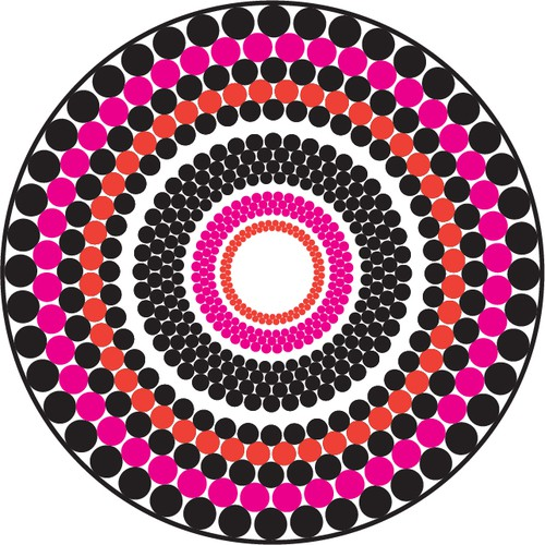 Create an exciting design for a luxurious round towel