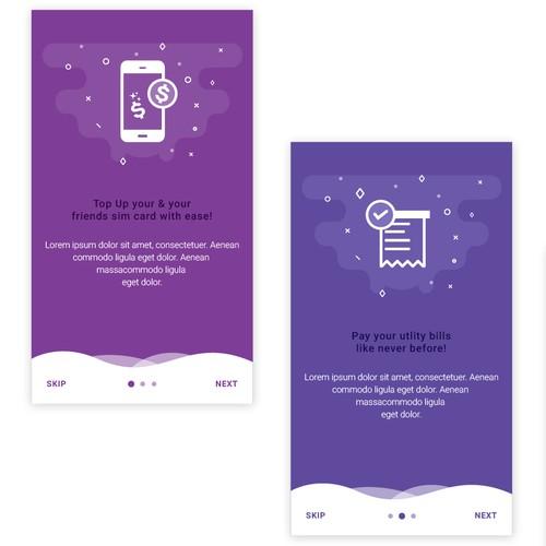 Tour Screens Design for 7 Star App