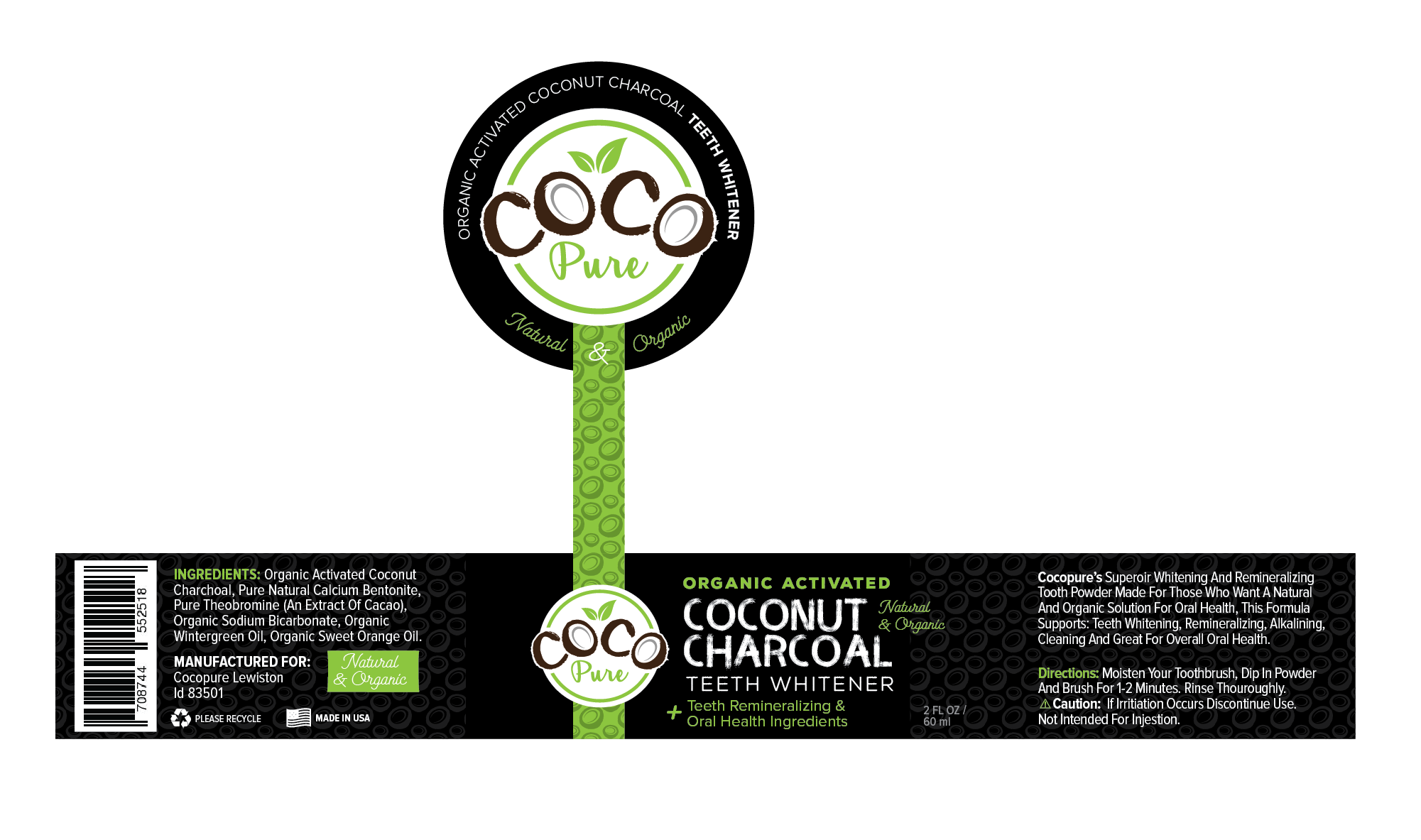 Create Eye Catching Label for Natural and Organic Tooth Powder Company