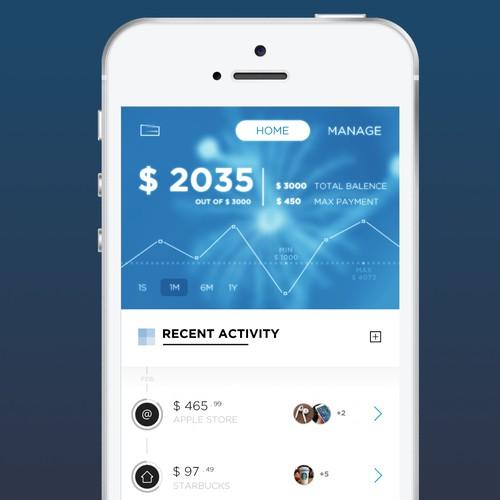 Financial management app concept
