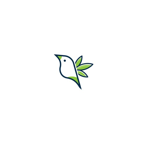 Bird + cannabis Logo design