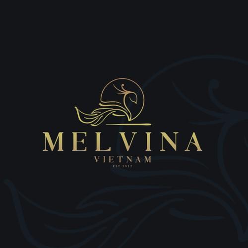 Melting logo concept for artisan luxury chocolate