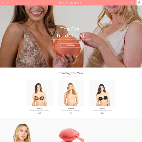 web design for nudwear