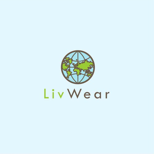 globe logo for live wear