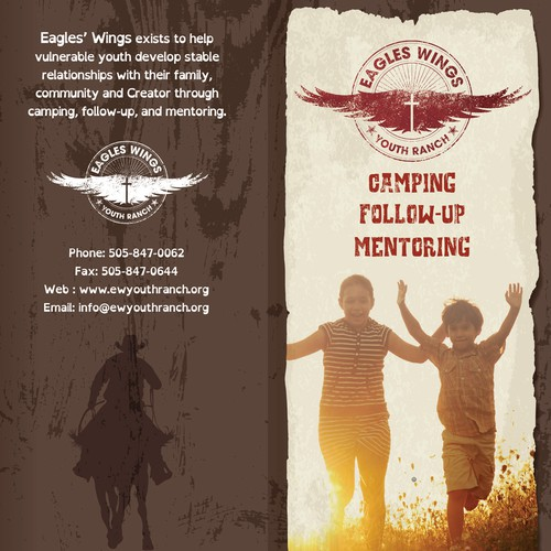 Guaranteed Prize- Create an exciting brochure to help support at-risk youth through Eagles' Wings