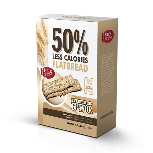 Box design for less calories flatbread