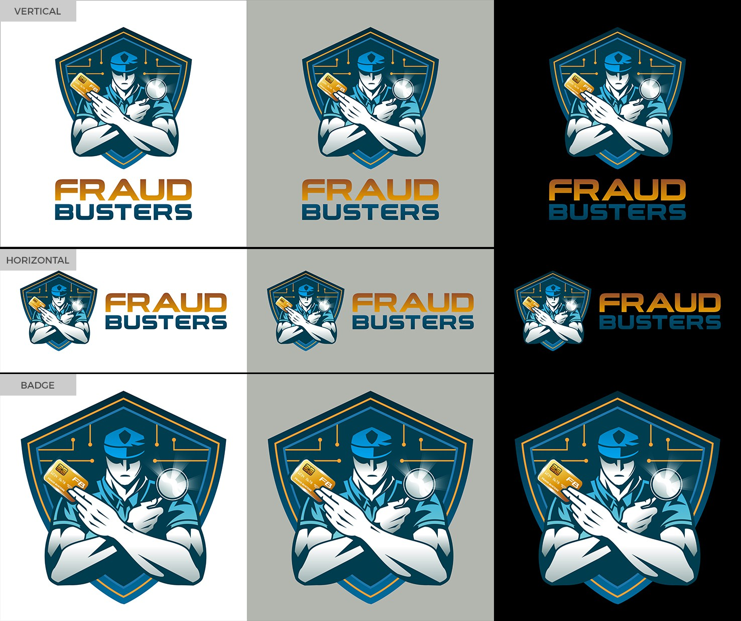 FraudBusters needs a powerful logo to combat everyday credit card fraud.
