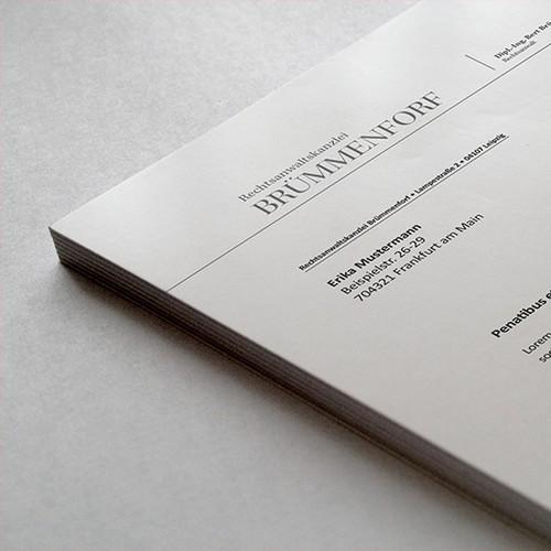 Briefkopf für Rechtsanwaltskanzlei