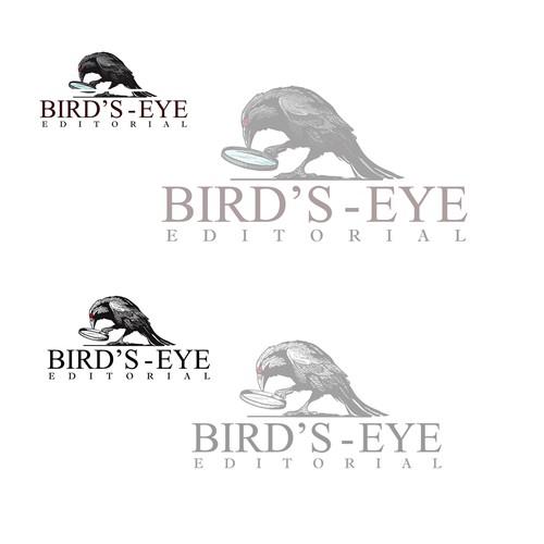 A crow logo for an editing company
