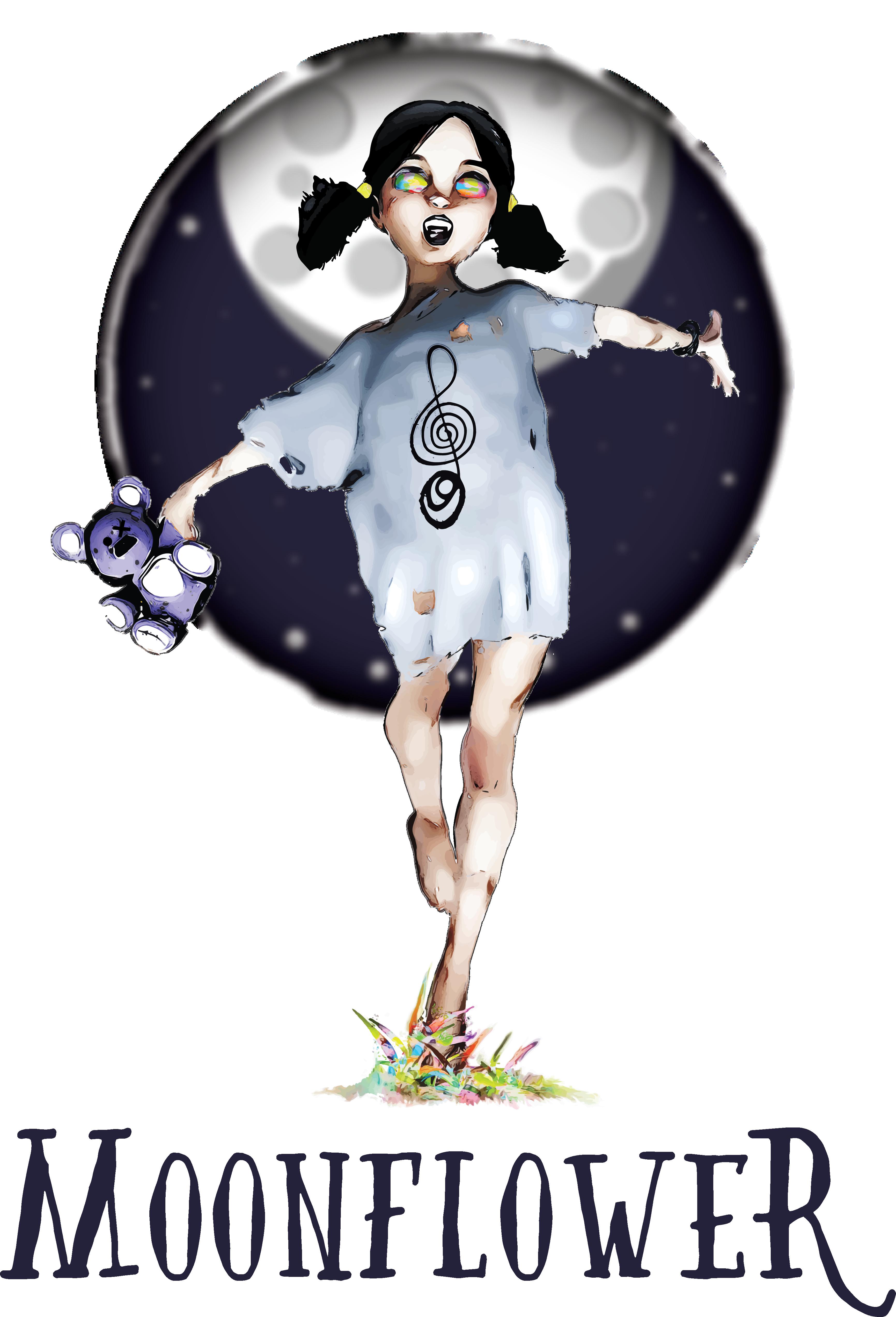 Moonflower Logo Design