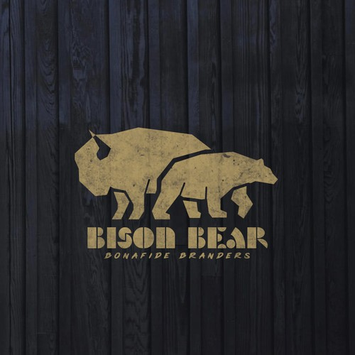 Bison Bear Logo Design