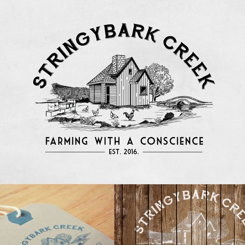 Logo concept for famous farm
