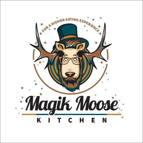Design a hipster logo for Magic Moose Kitchen