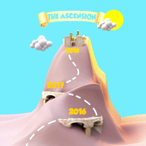 Create The Ascension flyer visually capturing the mission of our organization