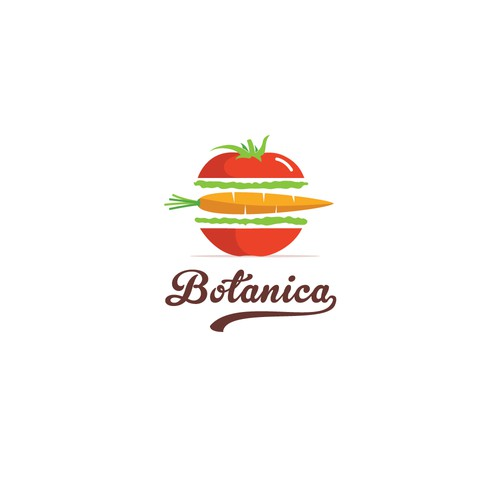 Logo for vegan fast food