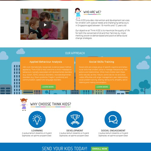 Website design for service provider to special needs children