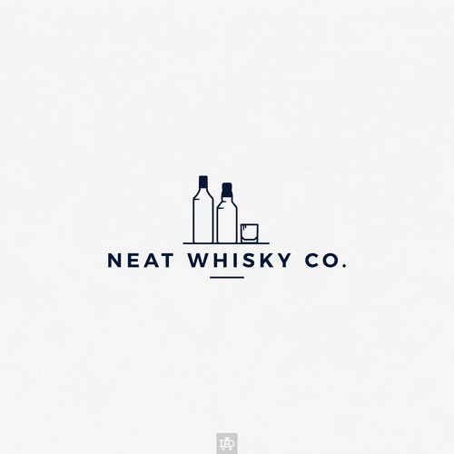 Logo for modern whisky service