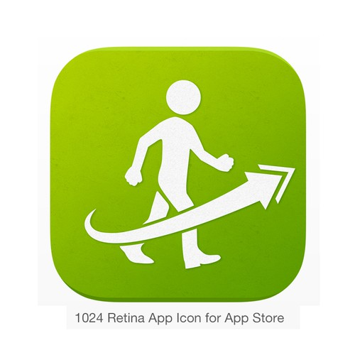 Create an iOS app icon for Just Walking.