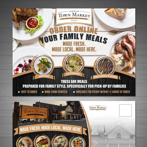 Town Market - Family Meal mailer