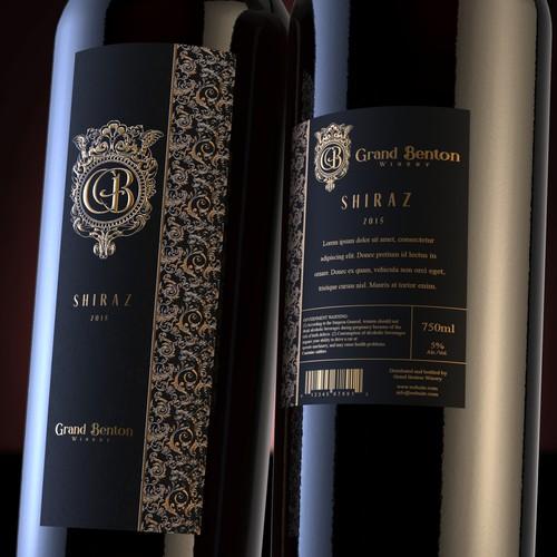 Luxury wine label design