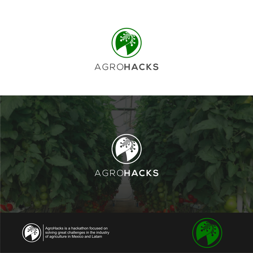 Logo and website design for agriculture focused hackathon