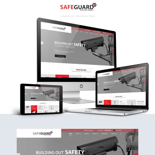 Web Design for a safeguard company