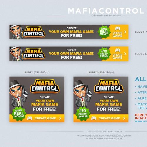 Banner set for online game