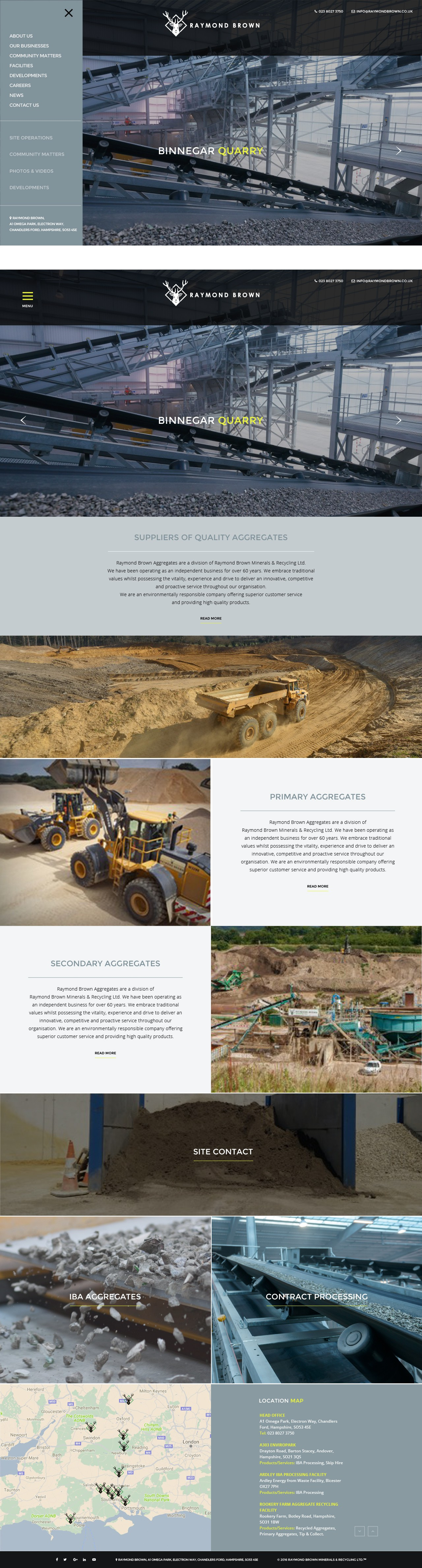 Raymond Brown Website Design