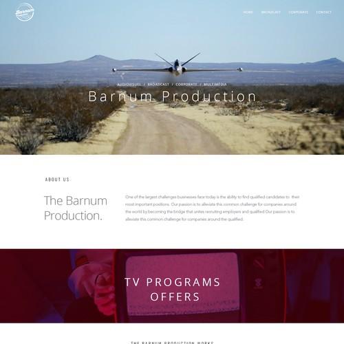 Barnum Prod website