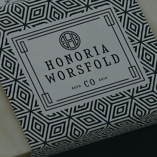 Classic logo for hand made products soap