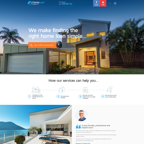 Design a new wordpress site for a leading mortgage broking company