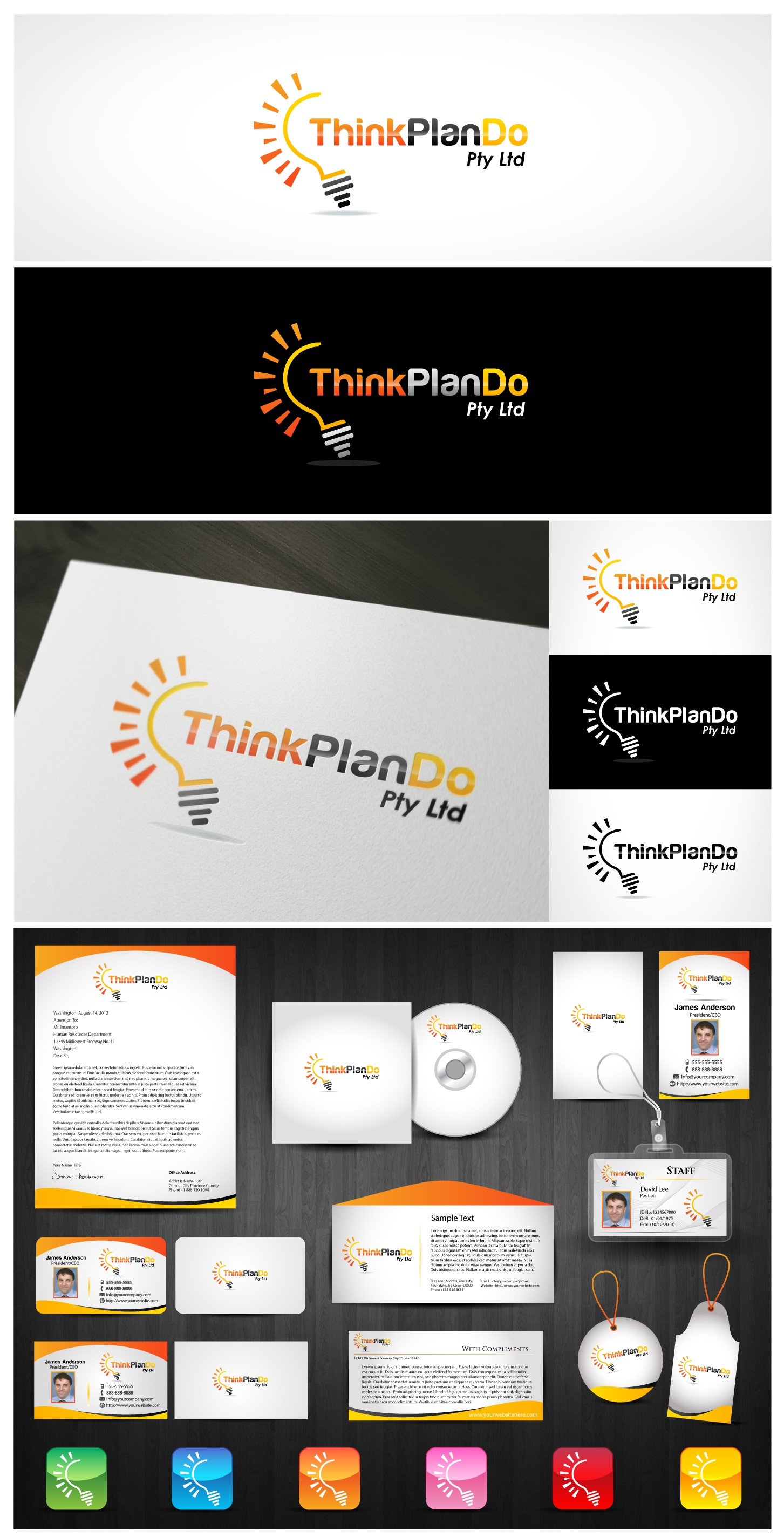 Create the next logo for Think Plan Do Pty Ltd
