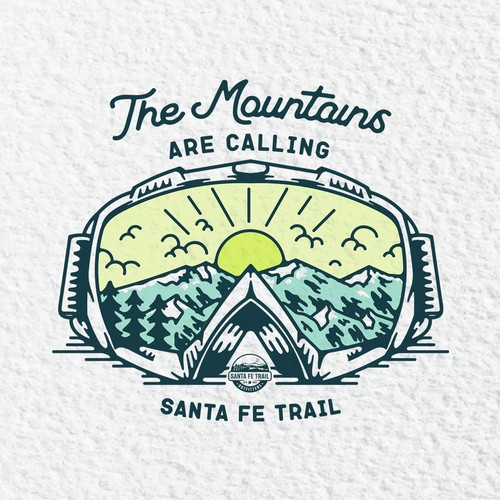 t-shirt design for santa fe trail outfitters