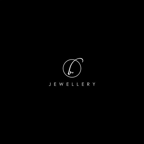 simple logo for b. jewellery