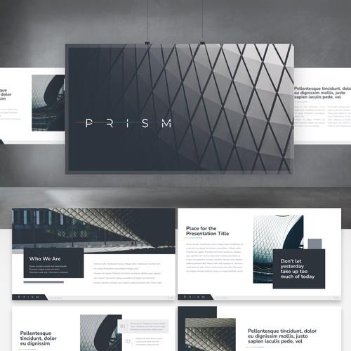 Modern Presentation template for PRISM