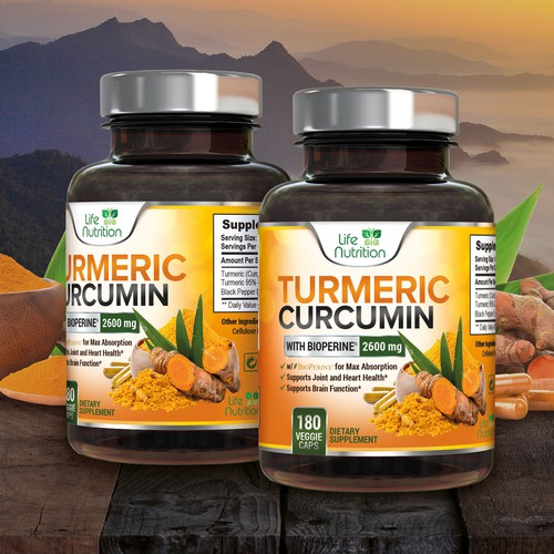 Label design for turmeric curcumin