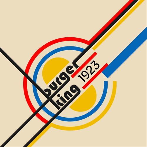 Burger King in Bauhaus style