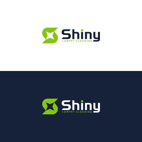 Shiny carpet cleaning logo design