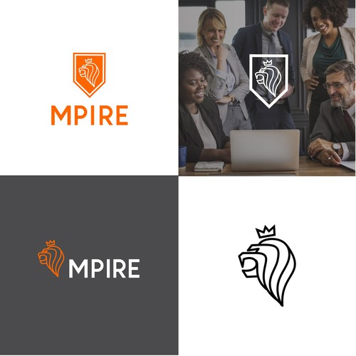 Meaningfull logo concept for mpire